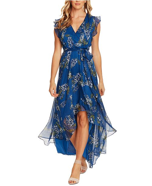 Vince Camuto Weeping Willows High-Low Wrap Dress