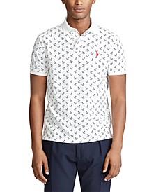 Men's Classic-Fit Anchor-Print Polo Shirt