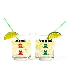 Yours and Mine Rock Glass - Set of 2