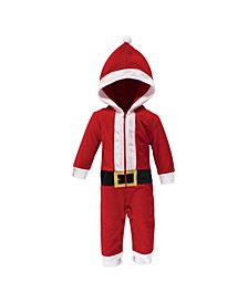 Baby Girls and Boys Santa Fleece Coveralls and Playsuits Jumpsuits