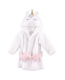 Baby Girls Unicorn Plush Animal Bathrobe