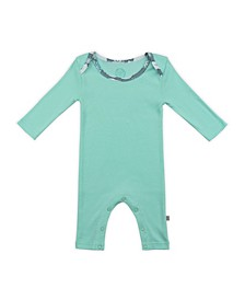 Baby Boys and Girls Snow Bear Mint Long Sleeve Bodysuit