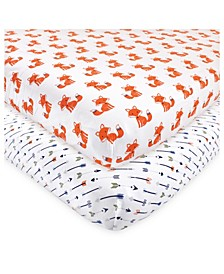 Baby Girls and Boys Foxes Fitted Crib Sheet