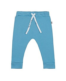 Baby Boys Bubbly Whale Drawstring Trouser