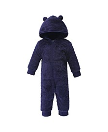 Baby Girls and Boys Bear Fleece Jumpsuits, Coveralls and Playsuits