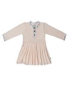 Baby Girls Peacock Three Button Dress