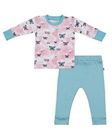 Baby Girls Butterflies Loungewear Set
