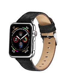 Men's and Women's Apple Black Hair Leather Replacement Band 44mm