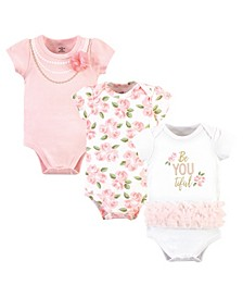 Baby Girls Beyoutiful Bodysuits, Pack of 3
