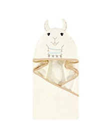 Baby Girls Neutral Llama Animal Hooded Towel