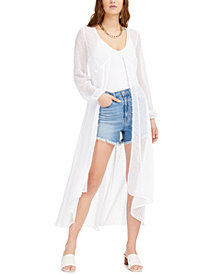 Bar III Sheer Textured Duster Cardigan, Created for Macy's