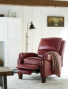 """Arianlee 31.5"""" Leather Push Back Recliner"""