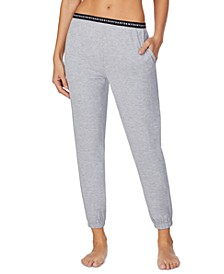 Sleepwear Cropped Knit Jogger Pajama Pants