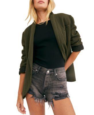 I Love NY Summer Shorts Ladies Black