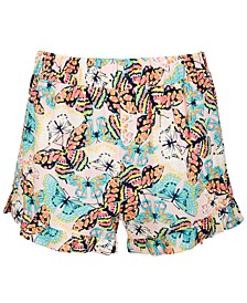 Big Girls Butterfly-Print Challis Shorts, Created for Macy's