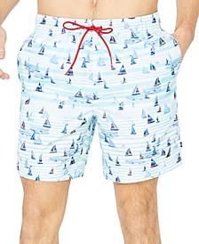 """Men's Boat Stripe 8"""" Swim Trunks"""