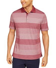 Men's Dot-Stripe Polo Shirt, Created for Macy's