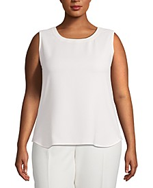 Plus Size Scoop-Neck Sleeveless Top