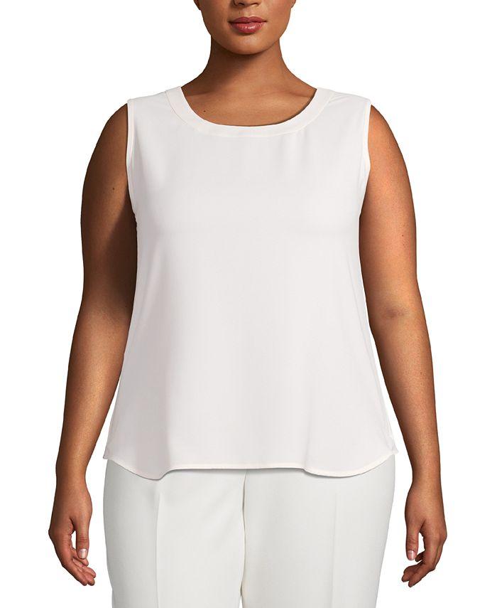 Anne Klein - Plus Size Scoop-Neck Sleeveless Top