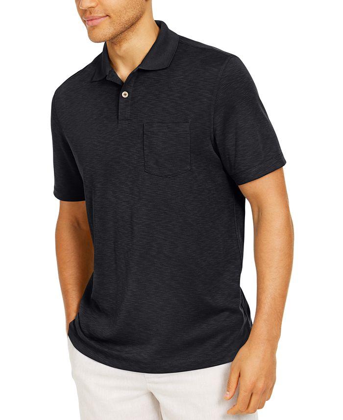 Tasso Elba - Men's Solid Pocket Polo Shirt