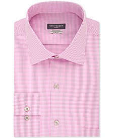 Men's Classic/Regular Fit Flex Collar Stretch Check Dress Shirt