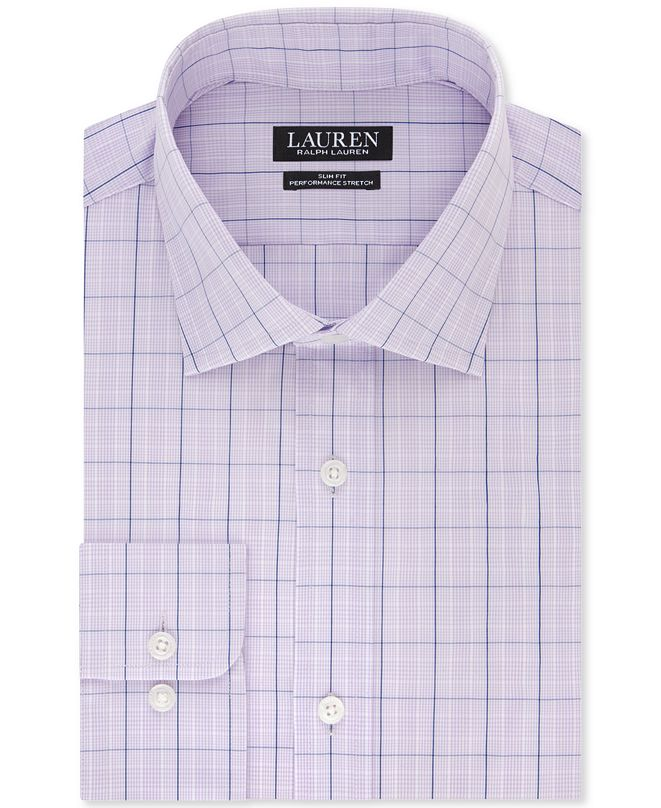 Lauren Ralph Lauren Lauren Ultraflex + Slim fit Dress Shirt
