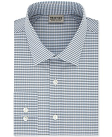 Men's Extra-Slim Fit Non-Iron Steel Blue Check Dress Shirt