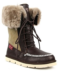 Women's Lace Up Altai Wide Calf Boots