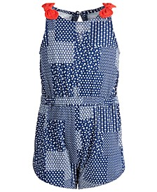 Baby Girls Cotton Patchwork Romper, Created for Macy's