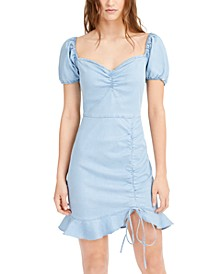 Puff-Sleeve Ruffled-Hem Dress, Created for Macy's