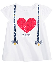 Baby Girls Cotton Suspenders T-Shirt, Created for Macy's