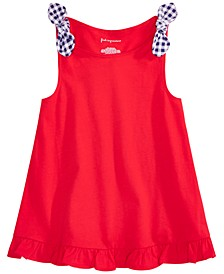 Toddler Girls Cotton Flounce Knot Tank Top, Created for Macy's