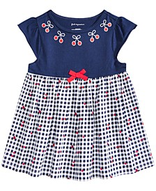 Baby Girls Gingham Cherry Tunic, Created for Macy's