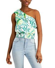 Printed One-Shoulder Top, Created for Macy's