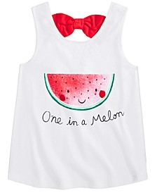 Baby Girls Cotton Watermelon Bow-Back Tank Top, Created for Macy's