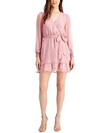 Wrap-Style Mini Dress