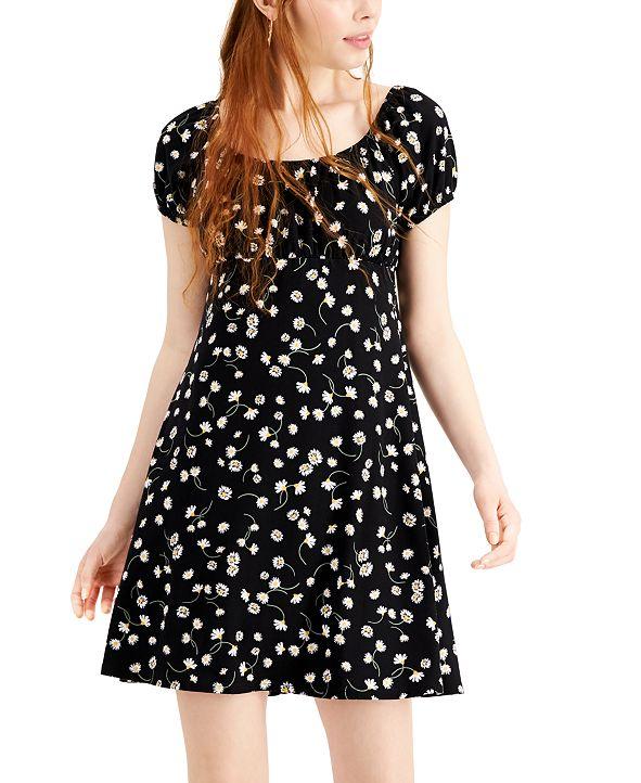 Ultra Flirt Juniors' Floral-Print Babydoll Dress