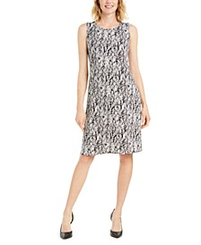 Printed Scoop-Neck Dress, Created for Macy's