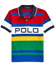 Toddler Boys Striped Cotton Mesh Polo