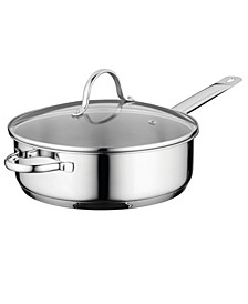 "Comfort Stainless Steel 10"" Covered Deep Skillet"