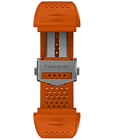Men's Connected Interchangeable Orange Rubber Strap Watch 45mm