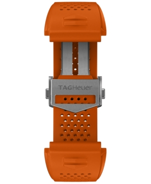 Tag-Heuer-Mens-Connected-Swiss-Interchangeable-Orange-Rubber-Strap-Watch-45mm