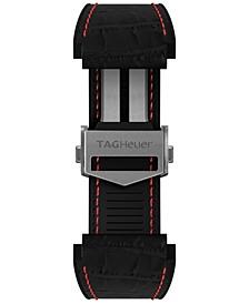 Men's Connected Interchangeable Black Rubber Strap Watch 45mm