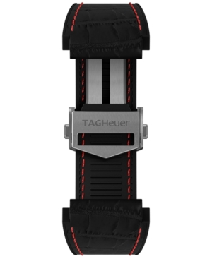 Tag-Heuer-Mens-Connected-Interchangeable-Black-Rubber-Strap-Watch-45mm