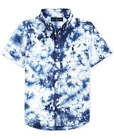 Big Boys Tie-Dye Cotton Poplin Shirt