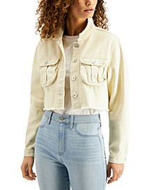 Cotton Cropped Denim Jacket