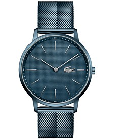 Men's Moon Blue Stainless Steel Mesh Bracelet Watch 40mm