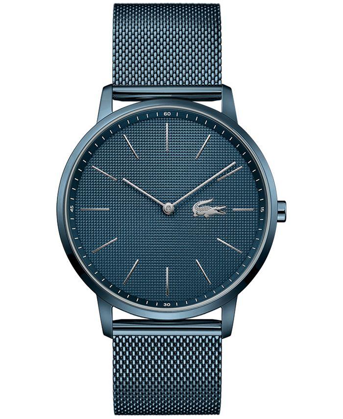 Lacoste - Men's Moon Blue Stainless Steel Mesh Bracelet Watch 40mm