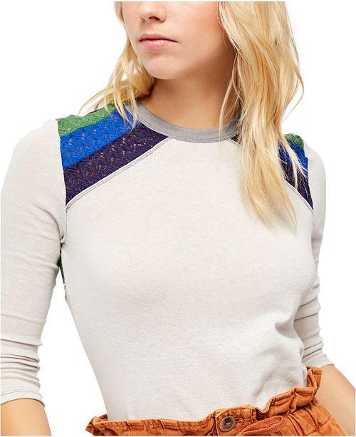 Free People In Rainbows Swit Sweater