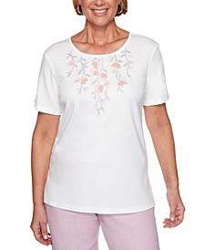 Petite Primrose Garden Floral Embellished Top